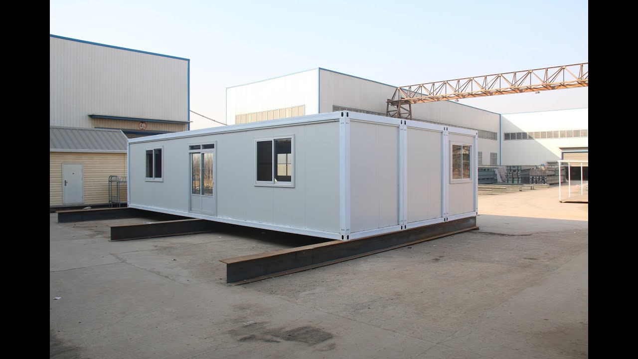 Hebei Baofeng 40ft Container House Installation & Hebei Baofeng 40ft Container House Installation - YouTube
