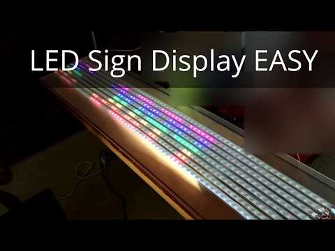 DIY LED Display, Info Ticker, Billboard, LED Sign connected with Facebook, Twitter or Feeds & IFTTT