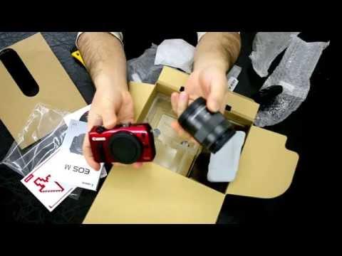 Canon EOS M kutu içeriği ve ön incelemesi