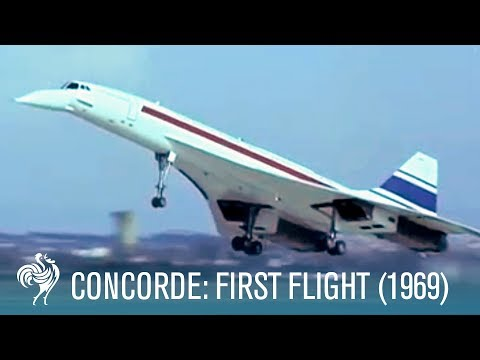 Concorde's First Flight: Supersonic Travel (1969) | British Pathé