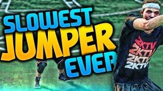 THE SLOWEST JUMPSHOT EVER!! NBA 2K16 MYPARK CHALLENGE