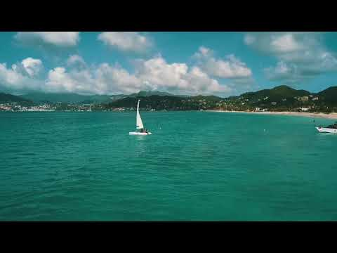 GRENADA, 4k, Drone Footage, Caribbean Beaches, waterfall