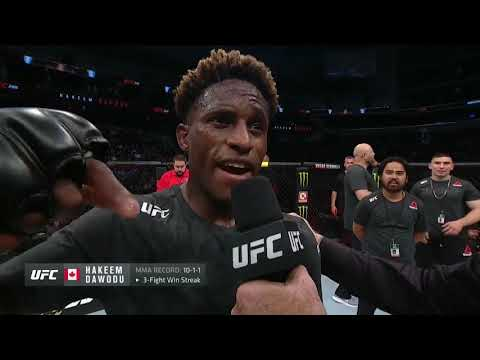 UFC 240: Hakeem Dawodu Octagon Interview
