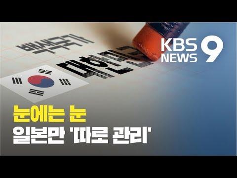 우리도 일본 백색국가 제외...수출심사서 일본만 '따로 관리' / KBS뉴스(News)