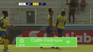 CU15W 2018 Barbados vs Antigua & Barbuda Highlights