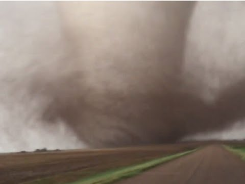 Catastrophic Tornadoes in Kansas.  May 25, 2016. Extremely Tornado. Central Kansas. Strong storms.
