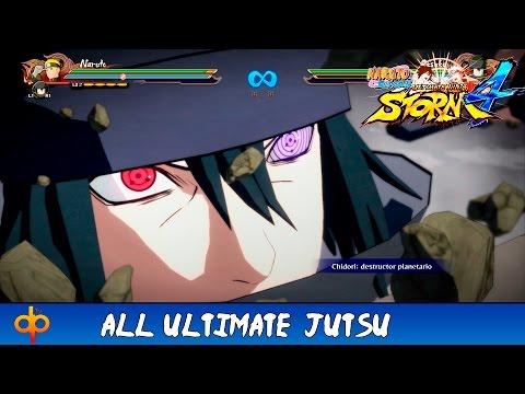 Naruto Shippuden Ultimate Ninja Storm 4 All Ougi Ultimate Jutsus + Secret Reactions,Techniques (JAP)
