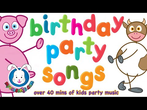 Birthday Party Songs For Baby, Toddlers & Children w/ Happy Birthday Song