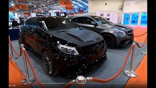 2x Prior Design Mercedes Benz GLE Coupe C292 Tuning show car black and grey walkaround K90