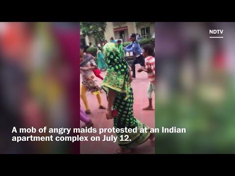 Maids riot at luxury apartment complex in India