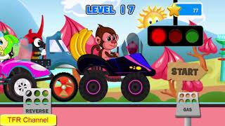 Fun Kids Car Racing Game : Monkey Car - Part 2 / Game For Kids - Nursery Rhymes Songs For Children