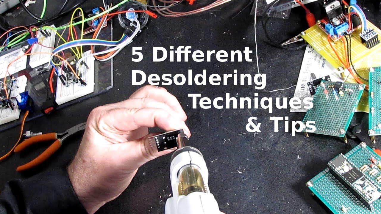 5 Desoldering Techniques - YouTube