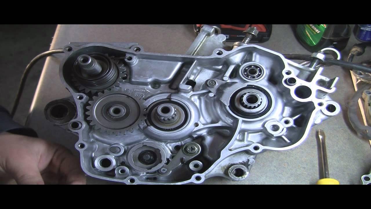medium resolution of yz125 part 10 2 stroke shifter drum kickstart spring gear etc youtube