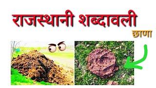 पशुपालन की राजस्थान शब्दावली