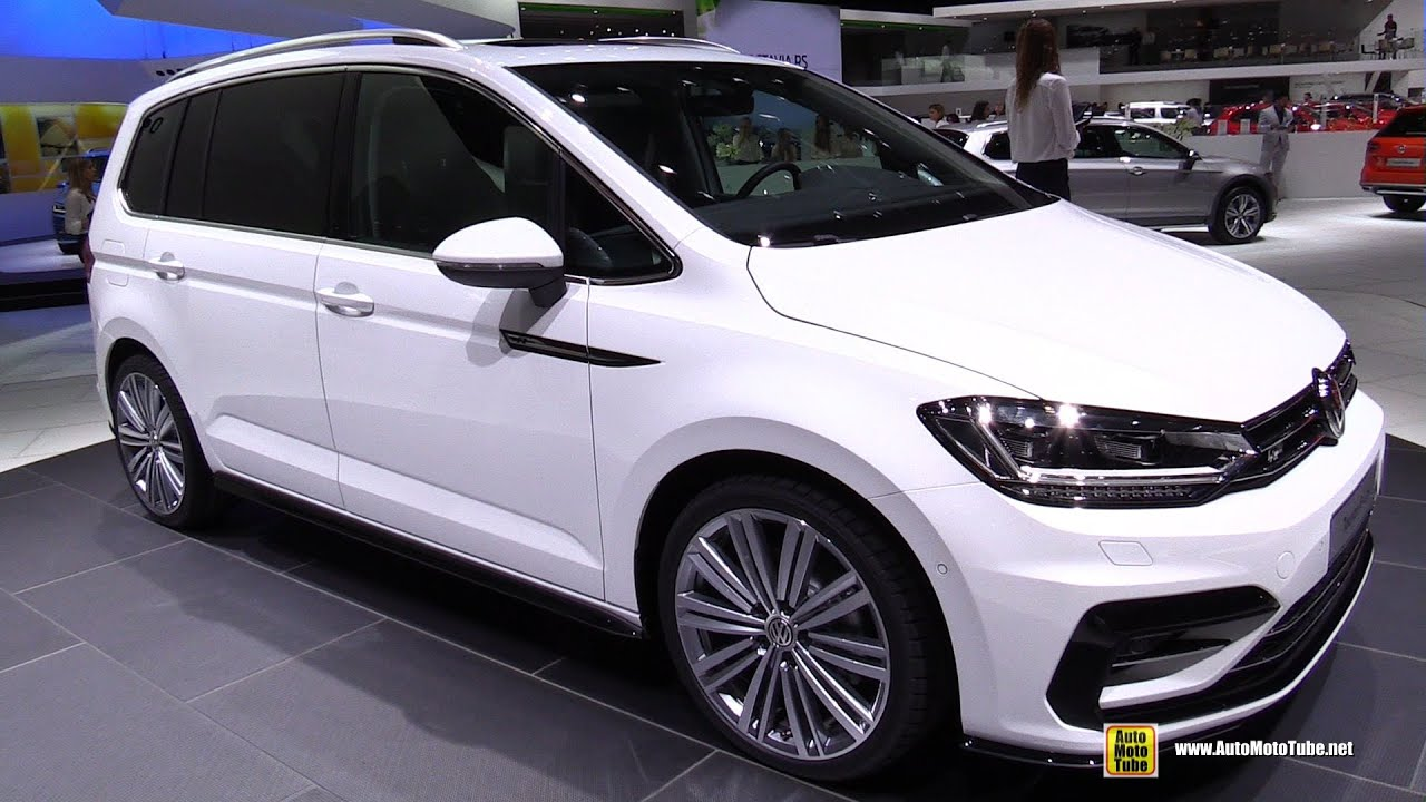2016 volkswagen touran r line 2 0 tdi exterior and interior walkaround 2015 geneva motor. Black Bedroom Furniture Sets. Home Design Ideas