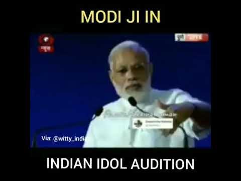 MODI JI IN INDIAN IDOL AUDITION | FT. NARENDRA MODI