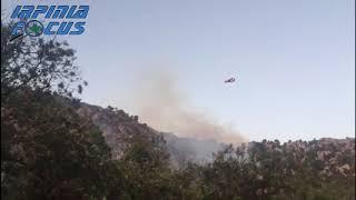 Incendio a Cervinara, in azione due Canadair