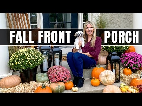 Impress your Neighbors with an Easy Fall Front Porch Makeover 🍂 No Skill Required!!!