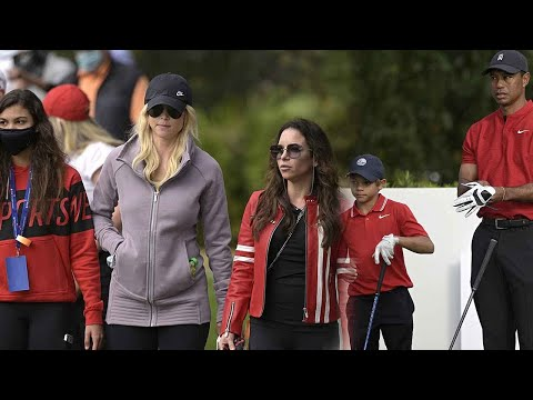 Tiger Woods' ex-wife Elin Nordegren joined her Woods' girlfriend to support their son Charlie