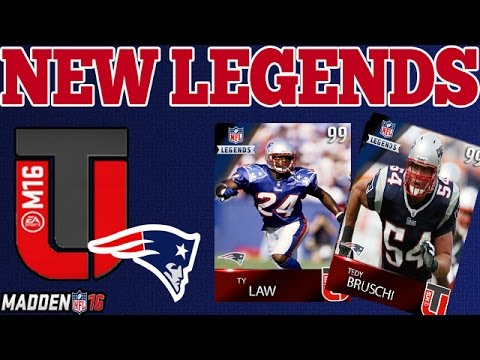 NEW MUT 16 LEGENDS | PATRIOTS FT. TEDY BRUSCHI | MADDEN 16 ULTIMATE TEAM