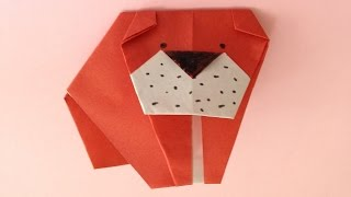 This video shows an instruction on how to fold an origami bulldog u...
