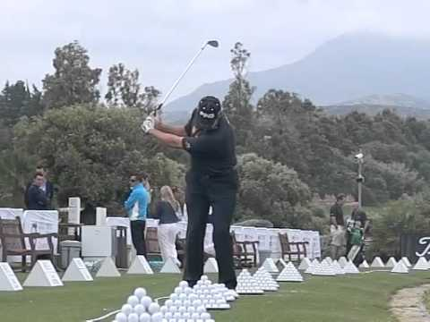 Lee Westwood Golf Pitching Slow Motion Face On Youtube