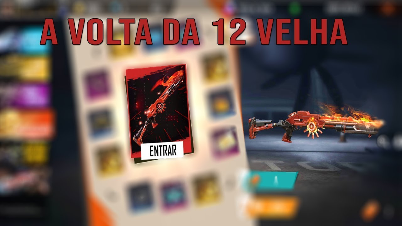 A VOLTA DA 12 VELHA!!! // FREE FIRE AO VIVO