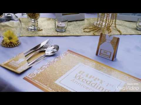 White Gold Table Decoration By Best Party Planner Youtube