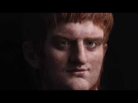 Escultura hiperrealista emperador Nerón