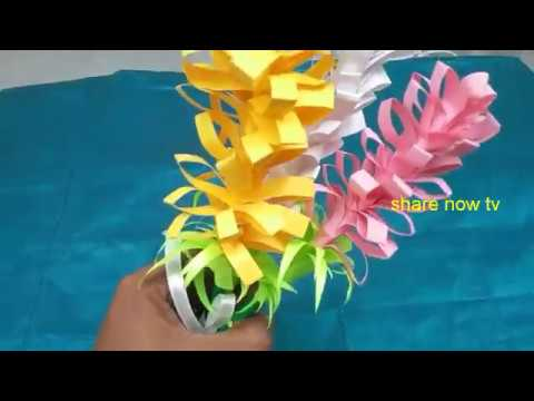 How To Make Paper Flower Bouquet easily at home, DIY paper arts , home decor ideas