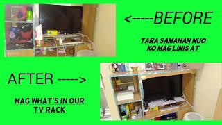 TARA SAMAHAN NUO KONG MAG WHAT'S IN OUR TV RACK +LINISIN NADIN NATIN UNG TV RACK