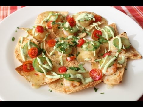 Shrimp & Jalapeno Nachos - Cinco De Mayo Party Food Idea