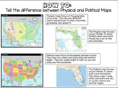 Physical Vs Political Maps How To Youtube