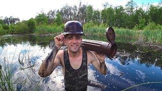 Поиск немецких артефактов в болоте. Офигел что нашёл.