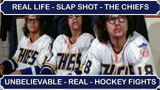 "Real Life ""Slap Shot"" - Unbelievable Ice Hockey Fights (Documentary)"