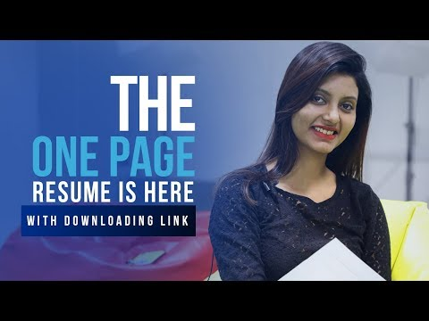 How To Modify My Resume To A One-page Resume? - Resume Making Tips | Downloadable Sample Resume
