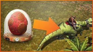 Jurassic Survival - КРАФТ ИНКУБАТОР ДЛЯ ПОЕЗДОК НА ДИНО!! НОВЫЙ ТРАНСПОРТ В ИГРЕ!