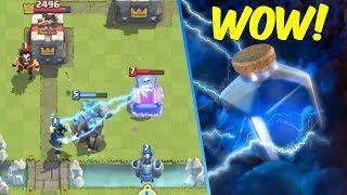 Clash Royale: Best Golem Deck! Beatdown God! Pushing To Arena 11!