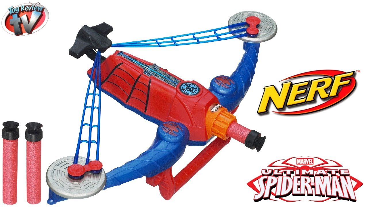 Ultimate Spider-Man Nerf Power Webs Spider Strike Toy Weapon ...