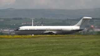 US Navy C-9 taking off from Glasgow Airport