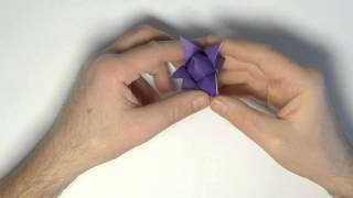 Tulip Origami Howto / Оригами тюльпан - Panasonic Lumix DMC-FZ200 Video(Как складывается оригами