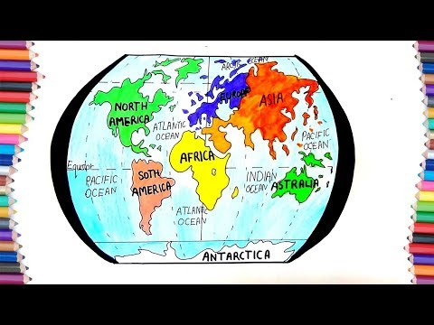 Pictures of outline map of world