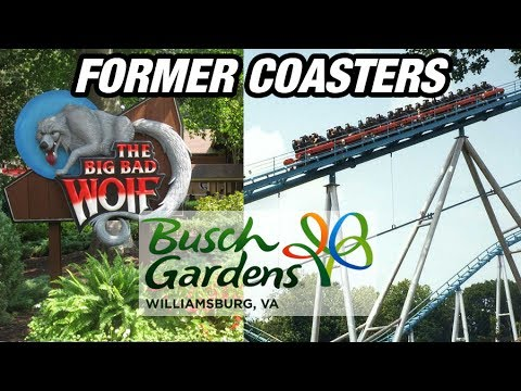 The Former Coasters of Busch Gardens Williamsburg! - YouTube