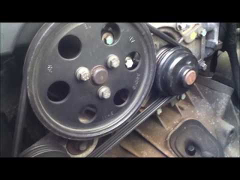 Jaguar X Type Water Pump Change - YouTube