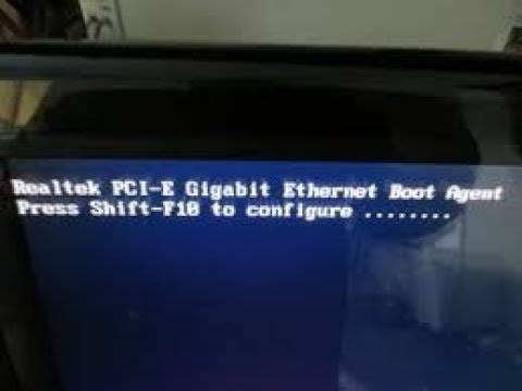 Realtek PCI-E Fast Ethernet Boot Agent Press Shift-F10 To Configure-(RESOLVIDO)