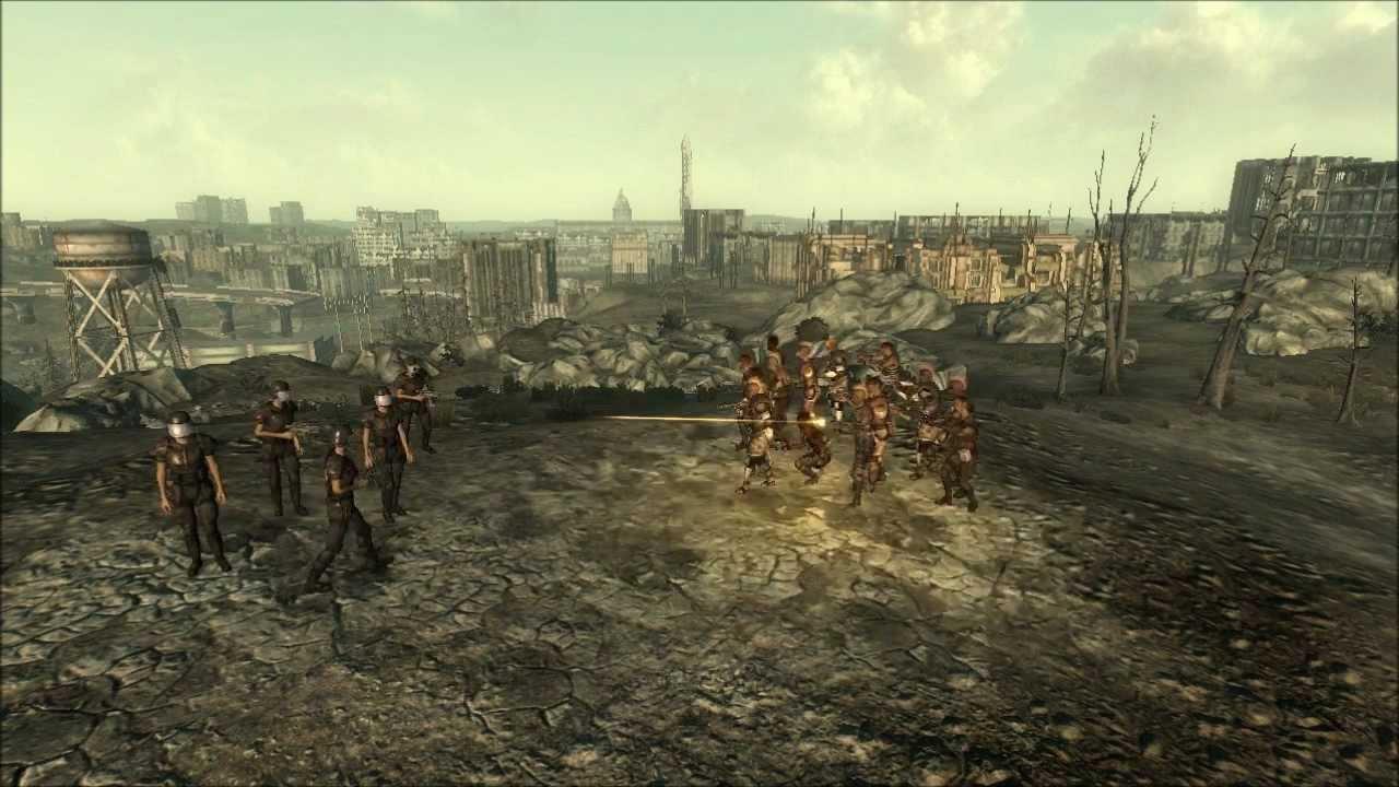 Rivet city security vs raiders npc battle fallout 3 for Rivet city security