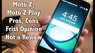 Hindi | Moto Z, Moto Z Play India Hands on, India Price, Pros, Cons, Not a Review | Gadgets To Use