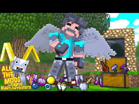 CHOOSE MY MINECRAFT MODS ADVENTURE -- ALL THE MODS 3!! thumbnail