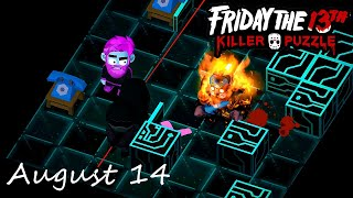 Friday the 13th Killer Puzzle Daily Death August 14 2020 Walkthrough