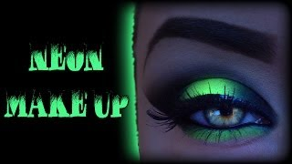 Neon Smoky Eyes - Cyber/Rave Make Up Tutorial